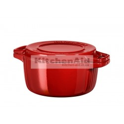 Кастрюля чугунная KitchenAid KCPI40CRER | Красная, d 24 см