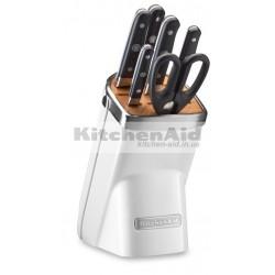 Набор ножей 7 предметов KitcheAid KKFMA07FP | Морозный жемчуг