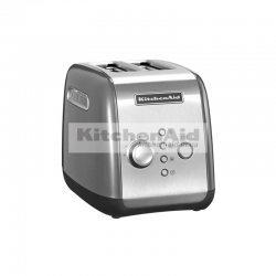 Тостер KitchenAid для 2 тостов 5KMT221ECU | Серебристый