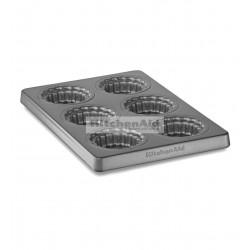 Форма для кексов со съемным дном KitcheAid KBNSO06MP | Сталь