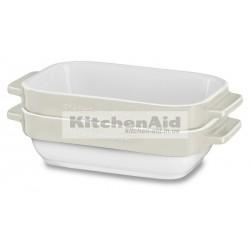 Набор из 2 емкостей для выпекания KitcheAid KBLR02MBAC | Кремовый, 20х11,5х5см