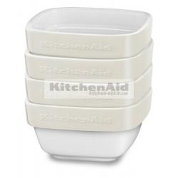 Набор из 4 емкостей KitcheAid KBLR04RMAC | Кремовый, 10х10х5см