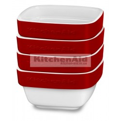 Набор из 4 емкостей KitcheAid KBLR04RMER | Красный, 10х10х5см