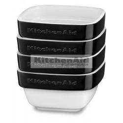 Набор из 4 емкостей KitcheAid KBLR04RMOB | Черный, 10х10х5см