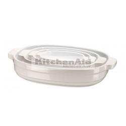 Набор керамических кастрюль KitcheAid KBLR04NSAC | Кремовый, 4 шт в наборе