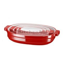 Набор керамических кастрюль KitcheAid KBLR04NSER | Красный, 4 шт в наборе